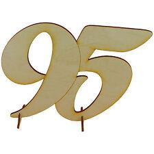 Geburtstagszahl stehend 95 Geschenk aus Holz 15cm hoch Hochzeit Jubiläum Deko