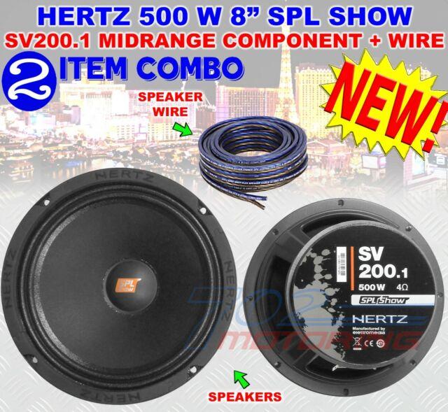 "HERTZ SV200.1 8"" SPL SHOW 500W COMPONENT 4 OHM MIDRANGE CAR AUDIO SPEAKERS NEW!"