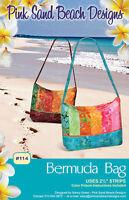 Bermuda Bag Pattern To Make Pocket Diy Sewing Pink Sand Beach Use 2 1/2 Strips