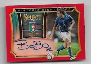 2015-16 Panini Select Soccer Autograph Auto Card : Christian Vieri #08/49