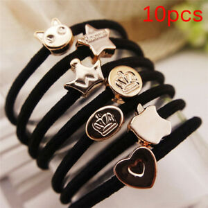 10Pcs-Women-Girls-Hair-Band-Ties-Ropes-Ring-Elastic-Hairband-Ponytail-Holder-RA