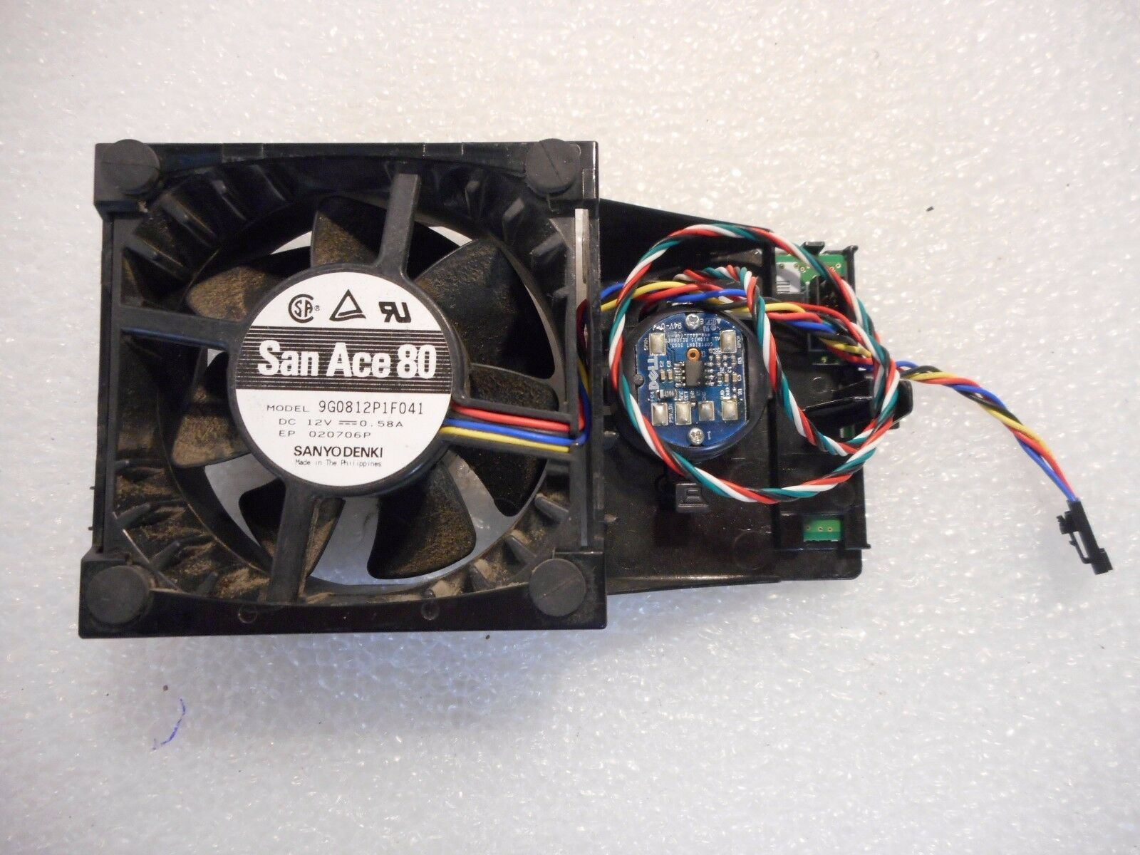 Dell GX520 San Ace80 with Shroud FAN Assembly P8402