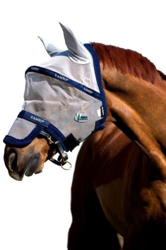 Horseware Irlande Rambo fly mask plus avec amovible nez Housse protection UV