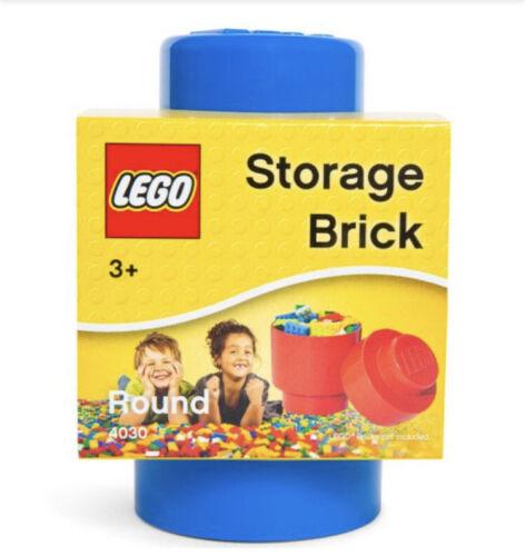 New Lego Round Stackable Storage Brick Blue