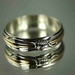 image is loading native american gold amp silver feather wedding band - Native American Wedding Rings