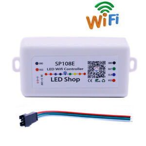 wholesale dealer 2c0cd bddc7 Details about SP108E IOS10.0/Android4.4 APP Wifi Magic Controller for  WS2811 WS2812B LED Strip