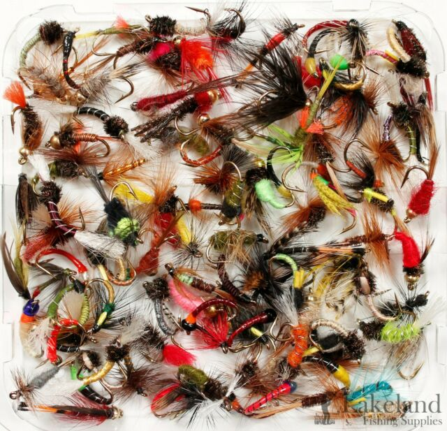 Box A Aluminium Fly Box Fly Fishing Mixed Trout Flies Wet Dry Nymphs Buzzer