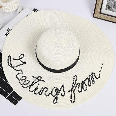 femme large bord pliable soleil Chapeaux Grand paille vacances d' Été Plage