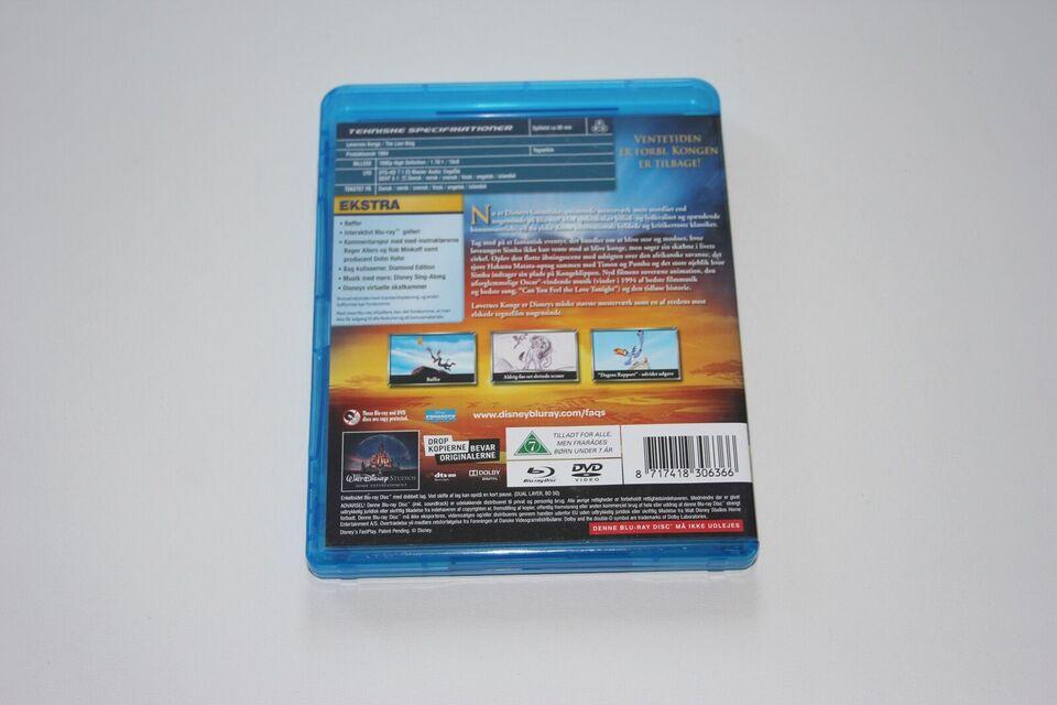 Løvernes Konge, Blu-ray, animation