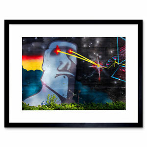 Graffiti-Easter-Island-Head-Laser-Art-Print-Framed-Poster-Wall-Decor