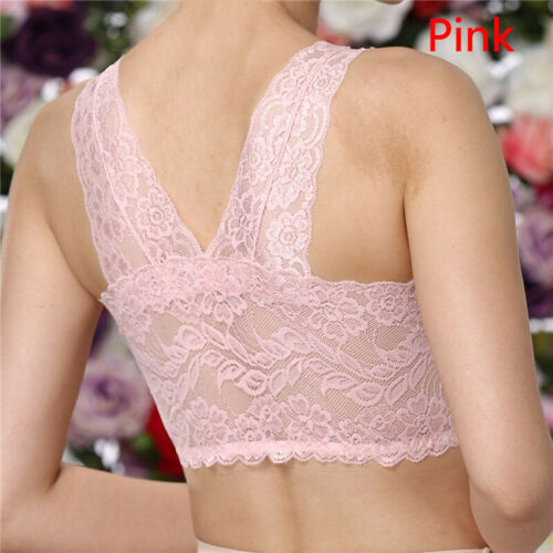 Mew Women Elastic Bra Permeable Lace Bra Light Padded Seamless Solid Casual