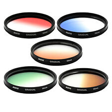 Albinar 58mm Graduated Gradual Color Filter KIT - Red Blue Orange Green Brown,US