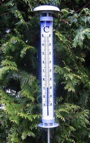 Solar Garden Thermometer Solino Tfa 12.2057 Lit Large Garden Thermometer