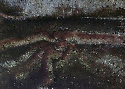Temperamentvoll Webpelz Langhaar Kuschelig Kunstfell Fell Stoff Braun-schwarz Deko Yw7173-382 Dinge FüR Die Menschen Bequem Machen