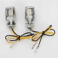 2x Mini LED Turn Signal Amber Lights For Yamaha YZF R1 R6 S 750 1000 XJR1300