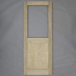 Solid Oak 2XG External Door - Custom Size Exterior Door Single Glass ...