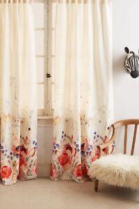 Anthropologie-Garden-Buzz-Curtain-Michelle-Morin-Floral-1-Panel-50-x-63-128-TAX