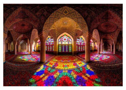 Canvas Pictures Religious Colourful Landscape Art Poster Mosque Of Colours