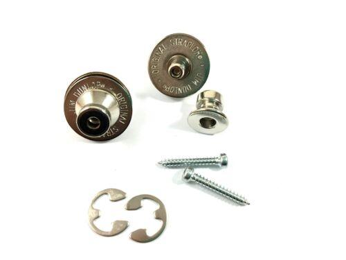 Dunlop Strap Locks Guitar Traditional Strap Retainer System Nickel