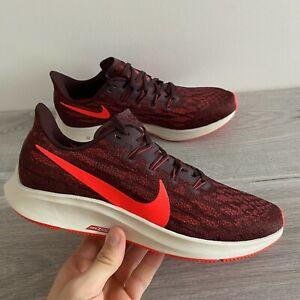 Nike Homme Air Zoom Pegasus 36-UK 7/EUR 8/EUR 41-ACAJOU/rouge (AQ2203-200)