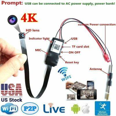 4K Wifi P2P Wireless Camera screw covert Spy CAM Security Recorder DV USA stock