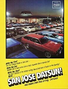 San Jose Car Dealerships >> Details About Print 1981 2 San Jose California San Jose Datsun Auto Dealership Ad