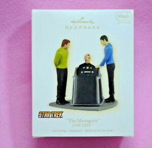 2009-Hallmark-STAR-TREK-Magic-Ornament-THE-MENAGERIE-Kirk-Spock-Pike