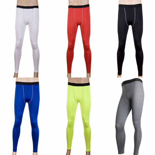 Men/'s Compression Sport Gym Base Layer Leggings Thermal Running Tight Long Pant