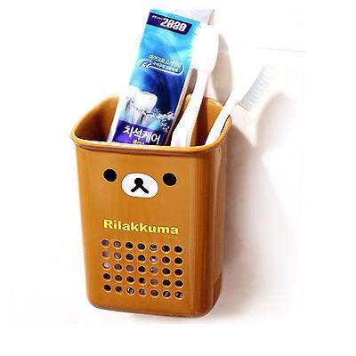 Rilakkuma Brown Multi Case Toothbrush  Toothpaste Holder Container Bath