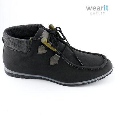 Para Hombre Smart Casual Negro/gris lazada Botas-Nuevo-tamaño de la UE 40-45