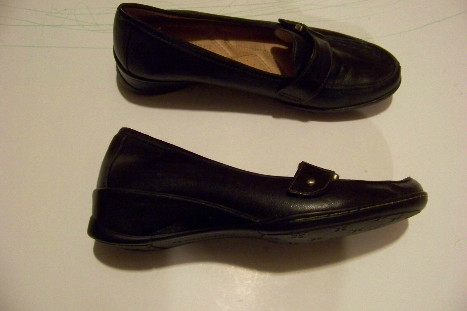 womens naturalizer n5 vastly comfort black size leather wedge heel shoes size black 6 eec13b