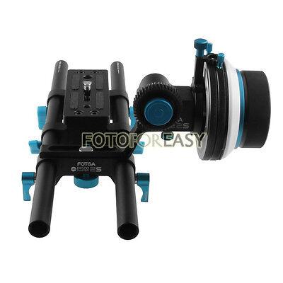 FOTGA DP500IIS DSLR Follow Focus A/B Hard Stops + DP3000 15mm Rod Baseplate Rig
