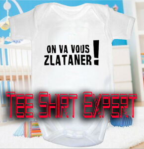 87781f39cc6e7 BODY BB HUMOUR Bebe On va vous zlataner PSG Paris foot maillot ...