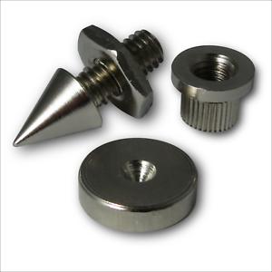 4-x-Altoparlante-PICCHI-isolamento-con-Piedi-Scarpe-e-inserti-FILETTO-M6