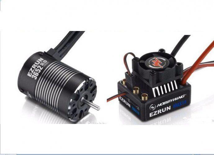 Hobbywing Ezrun MAX10 60 A Esc +3652 G2 4000 kV Motor sin Escobillas para 1 10 Coche Camión