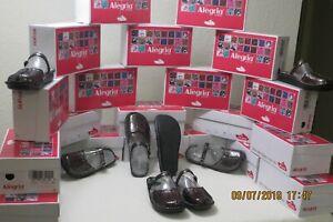 Alegria-Tuscany-Mary-Jane-Slides-Slip-On-Black-Metallic-Size-41-US-10-5