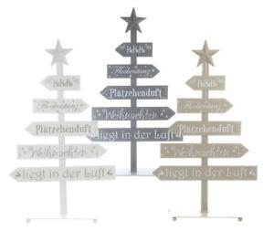 Weihnachtsbaum-Christbaum-Tannenbaum-Aufsteller-Wegweiser-Metall-55-cm