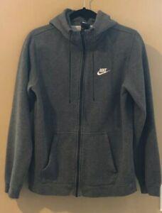 Nike-Club-Men-039-s-Fleece-Hoodie-Size-Small-Full-Zip-Hooded-Sweatshirt-Jacket