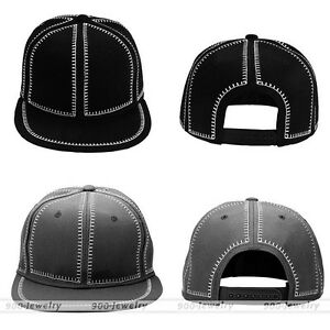 Image is loading Unisex-Personalised-Cap-Classic-Snapback-Baseball-Hat -Plain- b453af62e2be