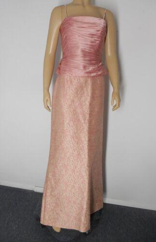 KAY UNGER NY long Skirt set 10 12 pink 100% Silk E