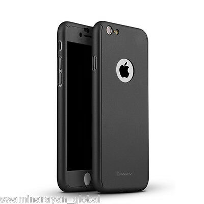 Luxury 360 Degree Full Body Protective Black Cover Case iPhone 6 6S