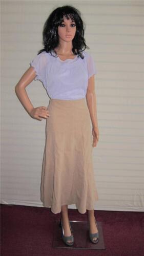 Ladies Skirt Simply Be Mock Suede L 33 in Size 16 UK Beige