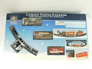 """Lemax Carole Towne Express Train Set In Box Circular Track 24"""" Complete WORKS"""