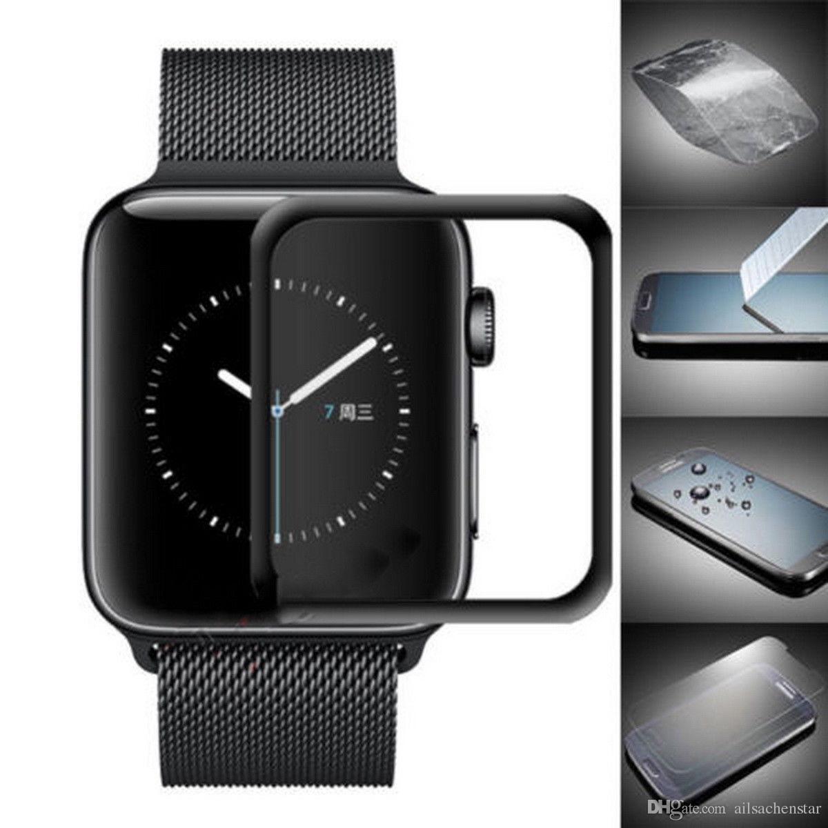 iwatch: Pellicola Vetro Temperato Curvo 5D per Apple iWatch 40/42/44mm Series 4 3