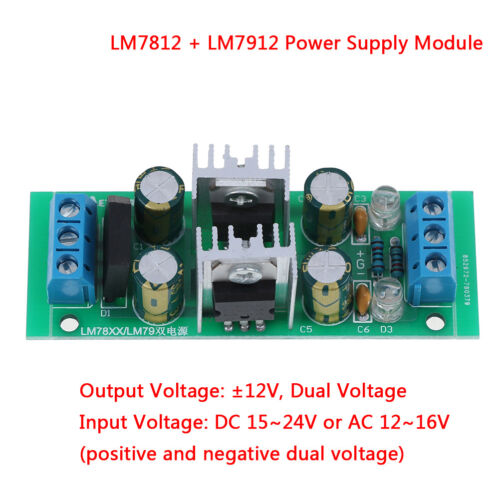 LM7912 ± 12V Gleichspannungsregler Gleichrichterbrücke Netzteil mod SA LM7812