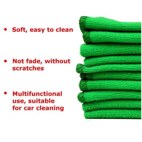 5//10//50X Saugfähigen Mikrofaser Handtuch Auto Küche Waschen Sauber Waschlappen