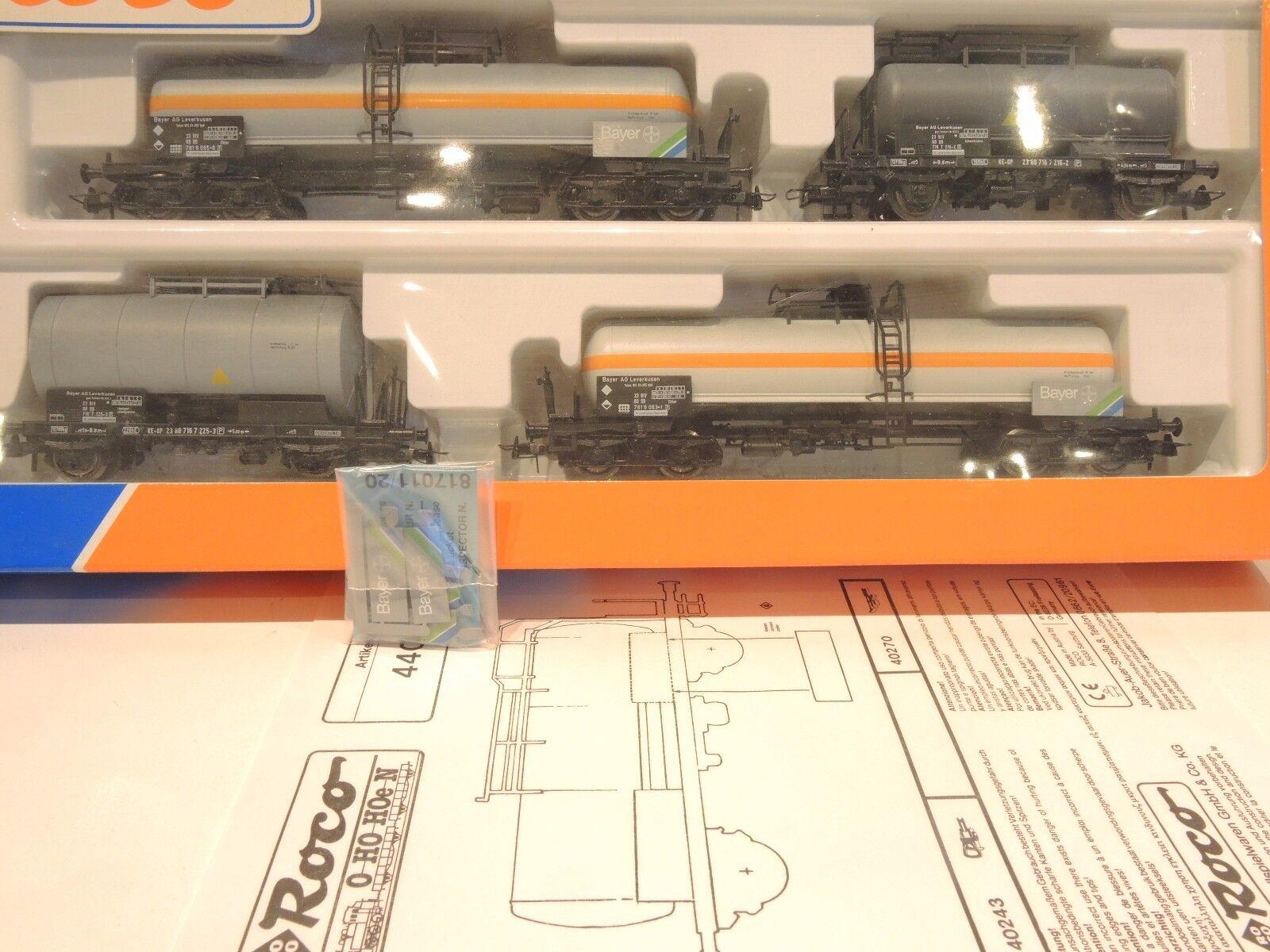 Roco 44041 vagones-set, bayer, 4 piezas, top  OVP