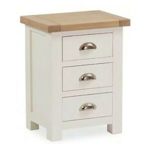 Daymer Painted Bedside Table Off White Side Table With