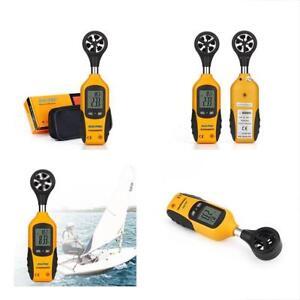 Anemometer, Digital Mini LCD Wind Speed Gauge Air Flow Meter & Temperature HT-81