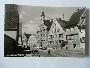 Ansichtskarte Gundelfingen DOnau Hauptstraße 1960 Straßenpartie